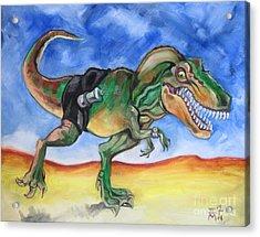 Sportosaurus Acrylic Print by Ellen Marcus