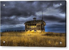 Spot On The School House Acrylic Print by Jean Noren