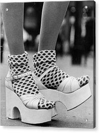 Spotty Socks Acrylic Print by Gunnar Larsen