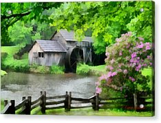 Spring At Mabry Mill Acrylic Print by Lynne Jenkins