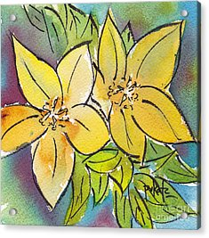 Spring Blooming Yellow Acrylic Print