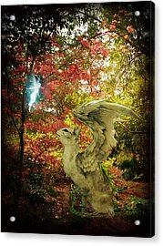 Spring Companions Acrylic Print by Leah Moore