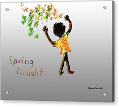 Acrylic Print featuring the digital art Spring Delight by Asok Mukhopadhyay