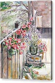 Spring Flowers Acrylic Print by Becky Kim