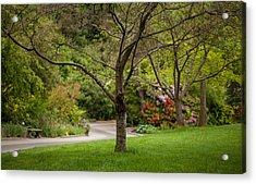 Spring Garden Landscape Acrylic Print by Mike Reid