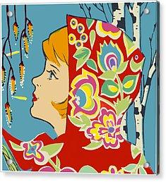 Spring Girl Poster Acrylic Print