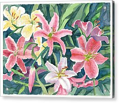 Spring Lilies Acrylic Print