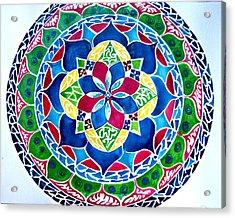 Spring Mandala Acrylic Print by Sandra Lira