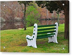 Spring On The Ponaganset River  Acrylic Print by Catherine Reusch Daley