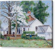 Spring On Windy Hill Acrylic Print by Sandra Harris