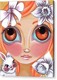 Spring Princess Acrylic Print by Jaz Higgins