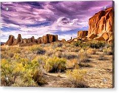 Spring Rain At Chaco Canyon Acrylic Print