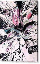 Acrylic Print featuring the painting Spring by Valentina Plishchina