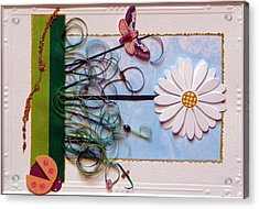 Springdaisy Acrylic Print by Gracies Creations