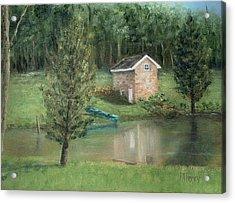 Springhouse Reflection Acrylic Print