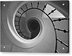 Spriral Staircase Up At Cathedral Of Our Lady In Kutna Hora Acrylic Print by Les Abeyta