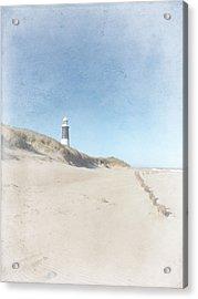 Spurn Point Lighthouse Texture Acrylic Print