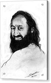 Sri Sri Ravishankar Guruji Acrylic Print by Shashi Kumar