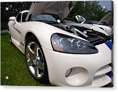 Acrylic Print featuring the pyrography Ssss 2009 Dodge Viper by John Schneider