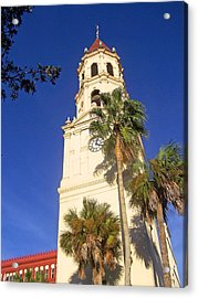 St. Augustine Church Clock Tower Acrylic Print by Patricia Taylor