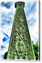 Acrylic Print featuring the photograph St Augustines Cross Close Up by Steve Taylor