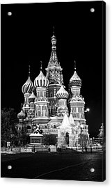 St Basils Church In Red Square  Acrylic Print by Philip Neelamegam