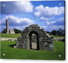 St Brigids Church, Inis Cealtra Holy Acrylic Print by The Irish Image Collection