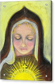 St. Clare Of Assisi All Aglow Acrylic Print by Susan  Clark