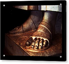 Acrylic Print featuring the photograph St. Francis Of Assisi's Sacred Feet by Susanne Still