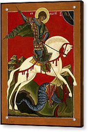 St George And The Dragon Acrylic Print by Raffaella Lunelli