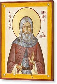 St Herman Of Alaska Acrylic Print