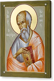 St John The Theologian Acrylic Print by Julia Bridget Hayes