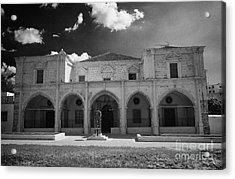 St Josephs Convent And Catholic Church St Joseph De L Apparition Larnaca Republic Cyprus Acrylic Print by Joe Fox