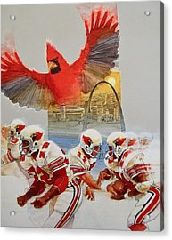 St Louis Cardinals1980 Game Day Cover And Media Guide Cover Acrylic Print by Cliff Spohn
