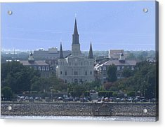 St. Louis Cathedral 2 Acrylic Print by Diane Ferguson