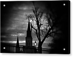 St. Louis Cathedral At Night 1 Acrylic Print by Jim Albritton