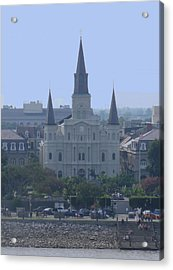 St. Louis Cathedral Acrylic Print by Diane Ferguson