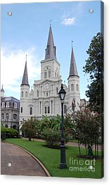 St Louis Cathedral Jackson Square French Quarter New Orleans   Acrylic Print by Shawn O'Brien