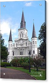 St Louis Cathedral Jackson Square French Quarter New Orleans Film Grain Digital Acrylic Print