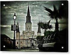 Acrylic Print featuring the photograph St. Louis Cathedral by Jim Albritton