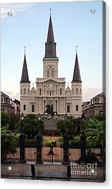 St Louis Cathedral On Jackson Square In The French Quarter New Orleans Acrylic Print