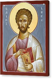 St Luke The Evangelist Acrylic Print by Julia Bridget Hayes