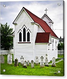 St. Luke's Church And Cemetery In Placentia Acrylic Print by Elena Elisseeva