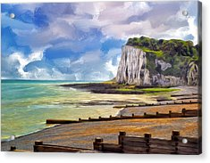 St. Margaret's Bay At Dover Acrylic Print by Dominic Piperata