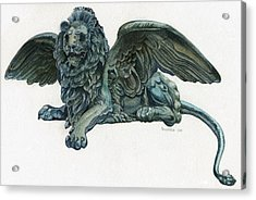 St. Mark's Lion Acrylic Print by Francesca Zambon