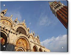 St. Markss Basilica And Campanile Off Acrylic Print by Trish Punch