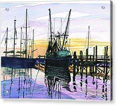St. Marys Sunset Acrylic Print