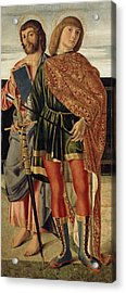 St Matthew And St Sebastian Acrylic Print by Cristoforo Caselli