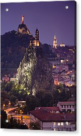 St-michel D'aiguilhe And Cathedrale Notre-dame Acrylic Print by Walter Bibikow