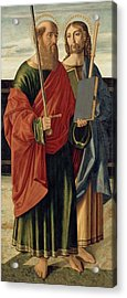 St. Paul And St. James The Elder Acrylic Print by Cristoforo Caselli
